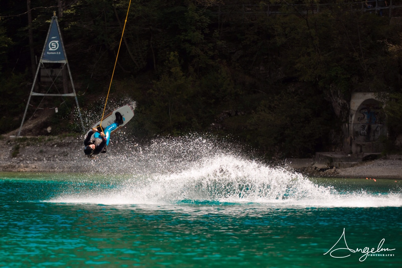 Wakeboard at Lake Ledro. Fun and adrenaline on the water